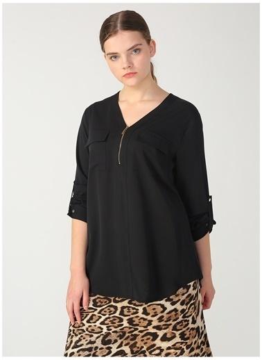 Ekol Ekol 03565.1 Siyah Kadın Bluz Siyah